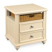 American Drew Camden Wood Storage End Table in Buttermilk