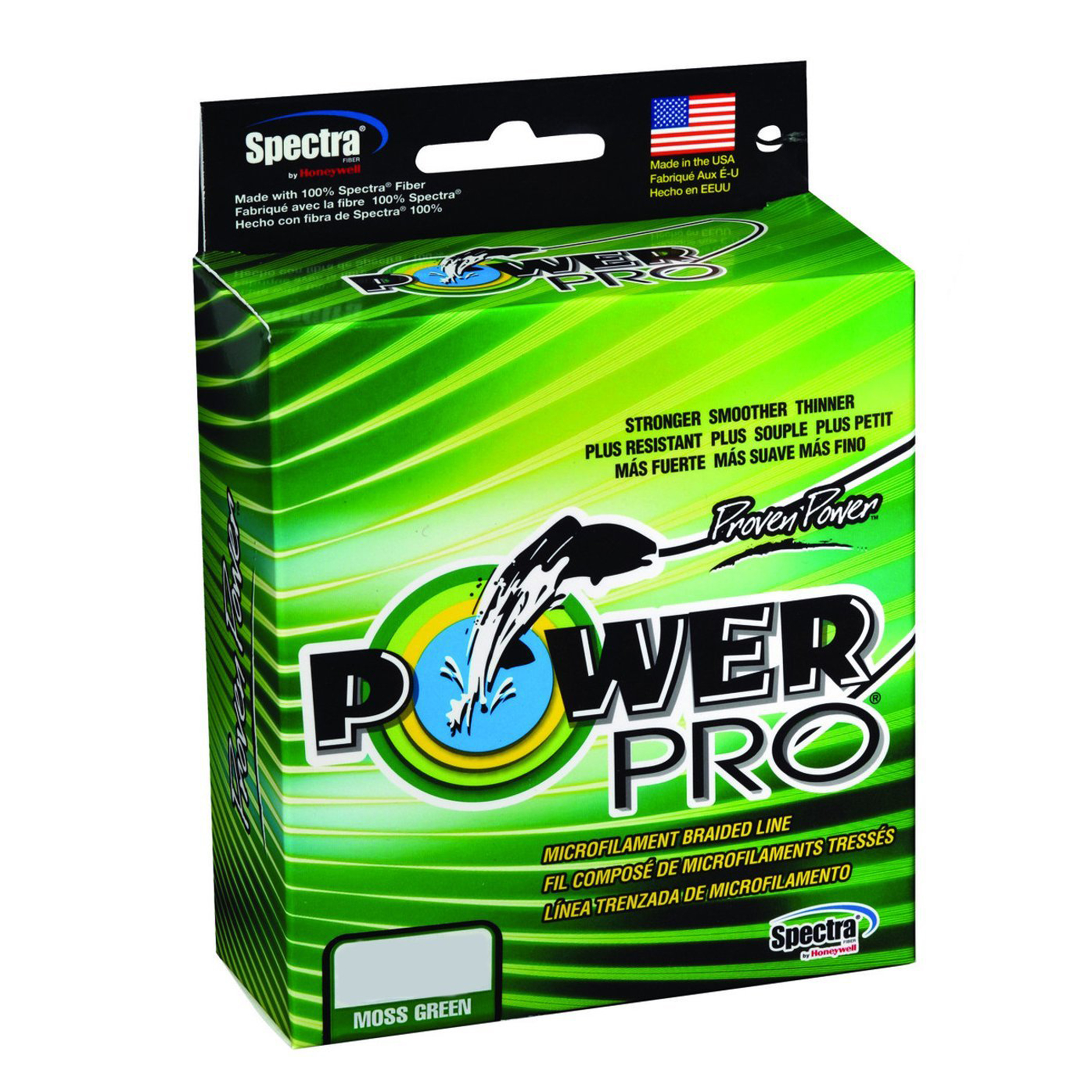 "Power Pro PowerPro Braided Line 150 Yards. 50 lbs Tested, 0.014"" Diameter, Moss Green"