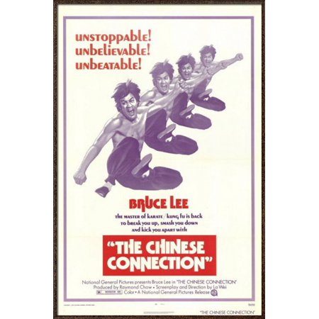 The Chinese Connection - Framed Movie Poster / Print (Bruce Lee) (Size: 27