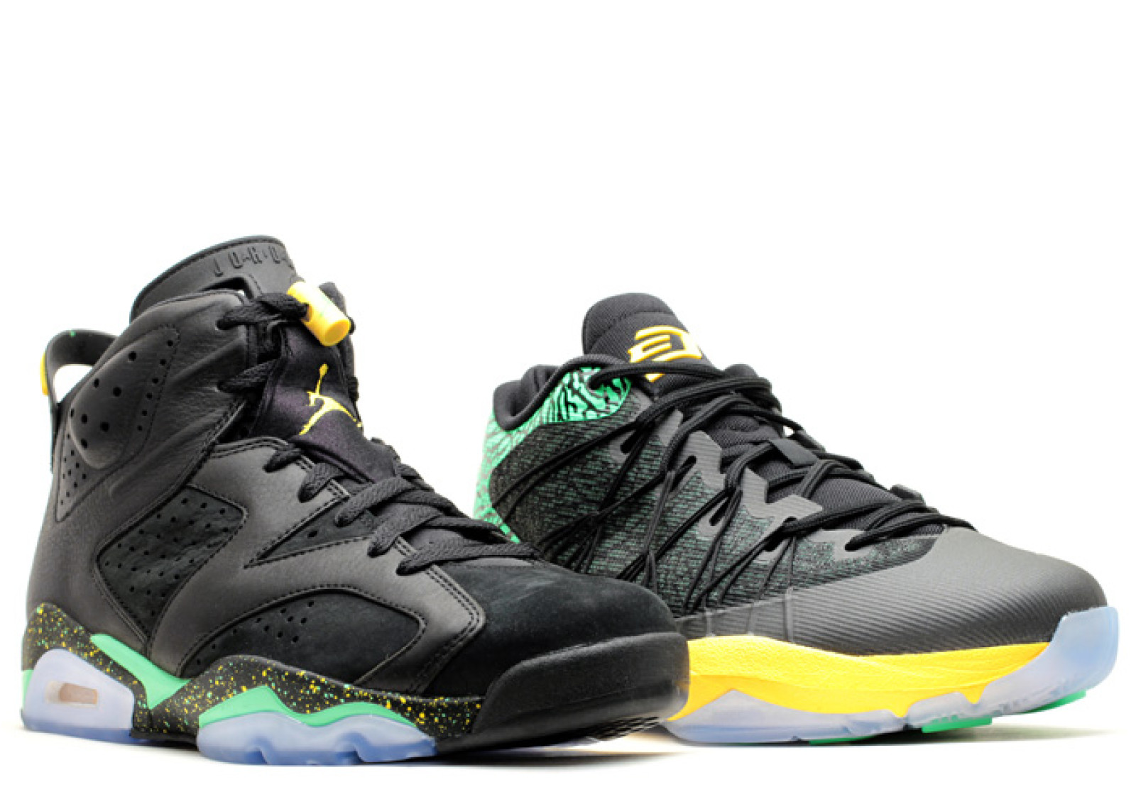 Nike Mens Jordan Brazil Pack  Black/Green/Yellow 688447-920