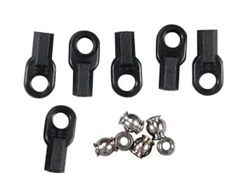 Set of 6 TRX2742 Traxxas Long Rod Ends with Hollow Ball Connectors
