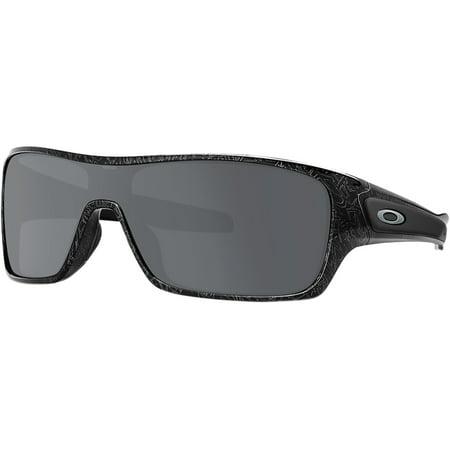 Oakley Tortoise Lens - Oakley Turbine Rotor Sunglasses Black/Silver Ghost Txt W/Black Irid One Size