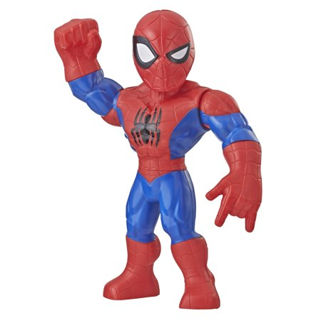 Super Kick Spider (Playskool Heroes Marvel Super Hero Adventures Mega Mighties Spider-Man, 10-Inch Action Figure, Toys for Kids Ages 3 and Up)