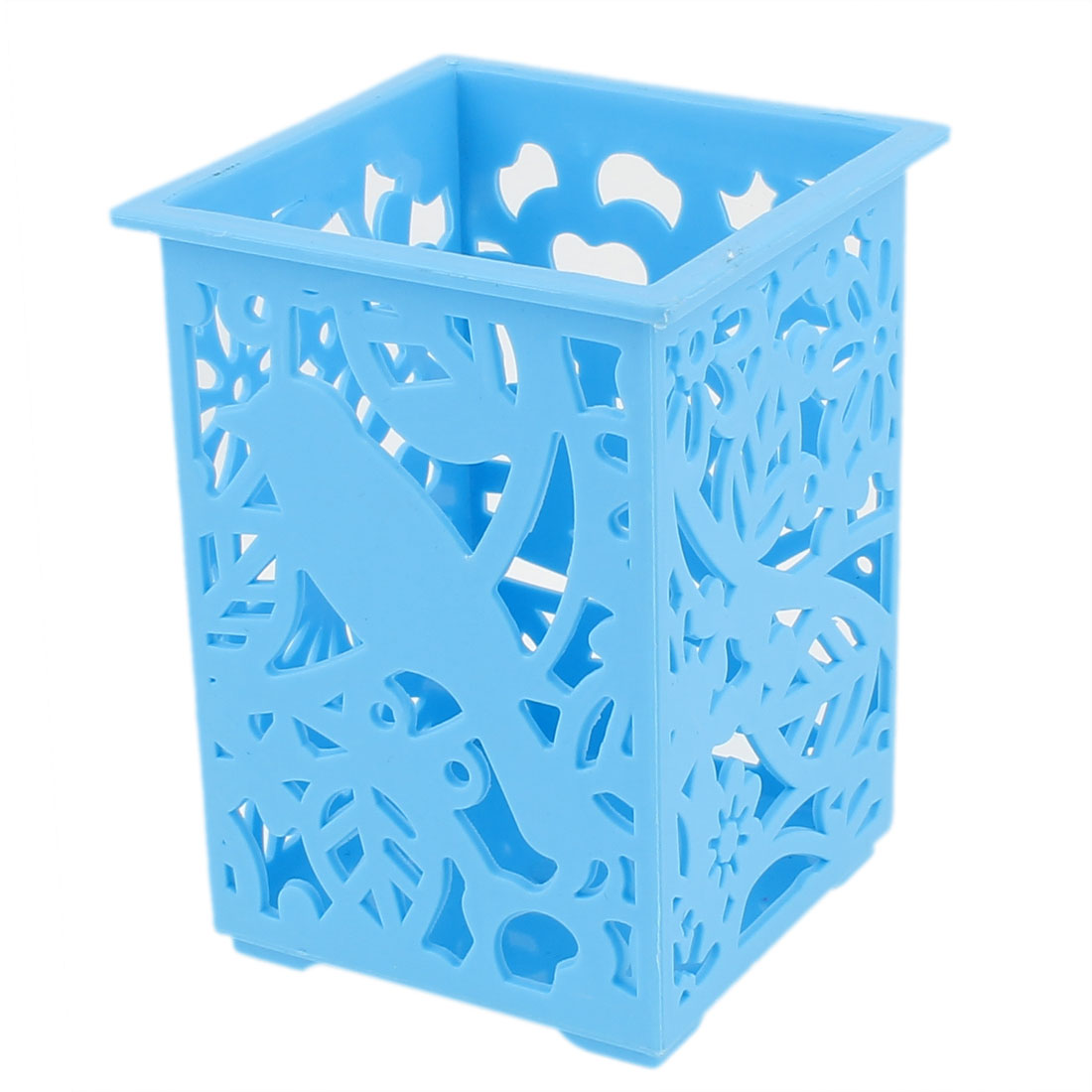 Home Blue Plastic Eyebrow Pencil Phone Storage Basket Container 7 x 10cm