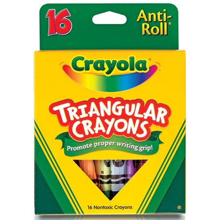 - Crayola Triangular Crayon Set, 16-Colors