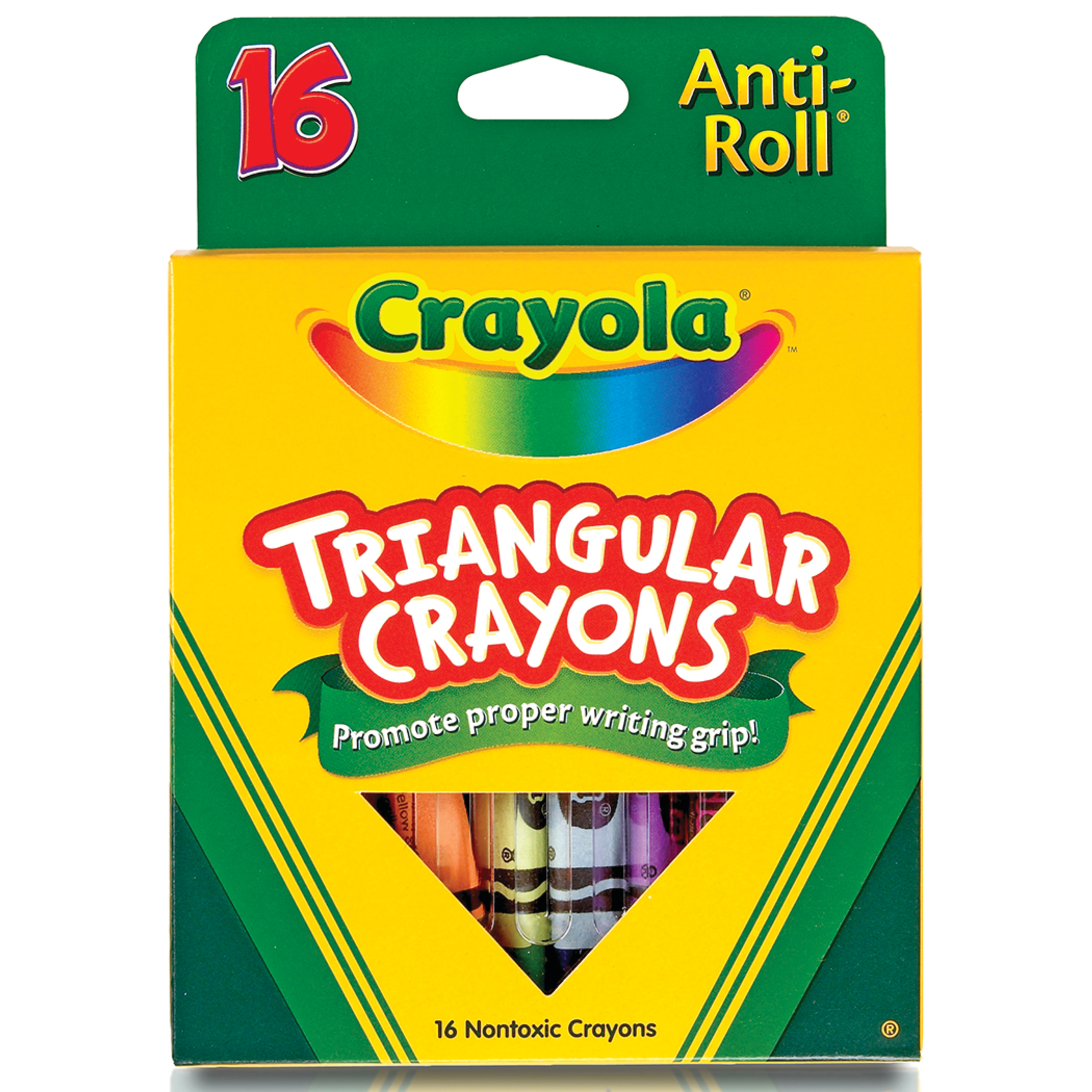 Crayola Triangular Crayon Set, 16 Colors
