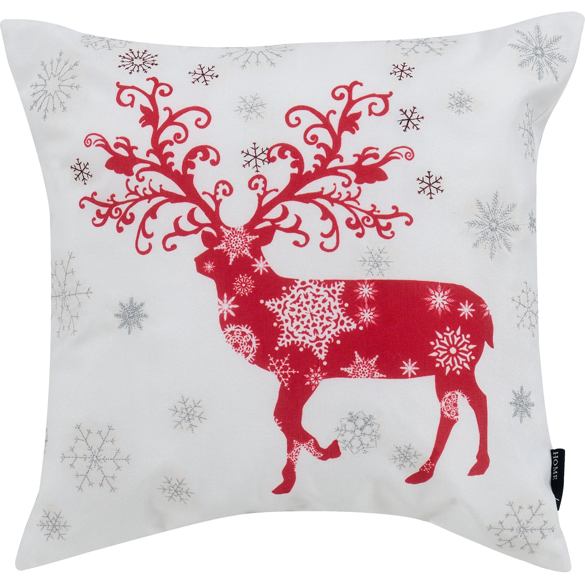 Winter Reindeer Christmas Pillow