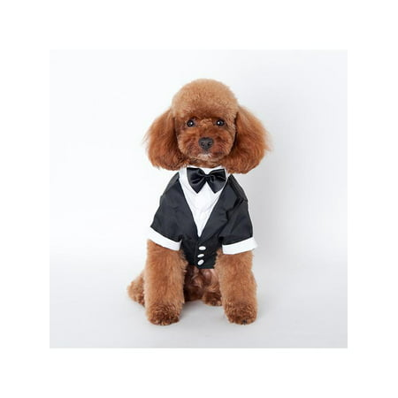 Lavaport Dog Pet Formal Tuxedo Bow Tie Wedding Party Costume - Black Dog Costumes