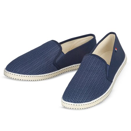 Army Navy Shoes (Elastic Stretch Mesh Casual Slip-on Boat Shoes, 9, Navy)
