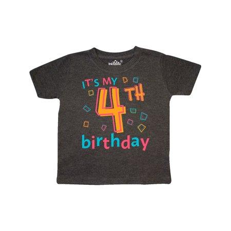 It's my Fourth Birthday Toddler T-Shirt - Today It's My Birthday