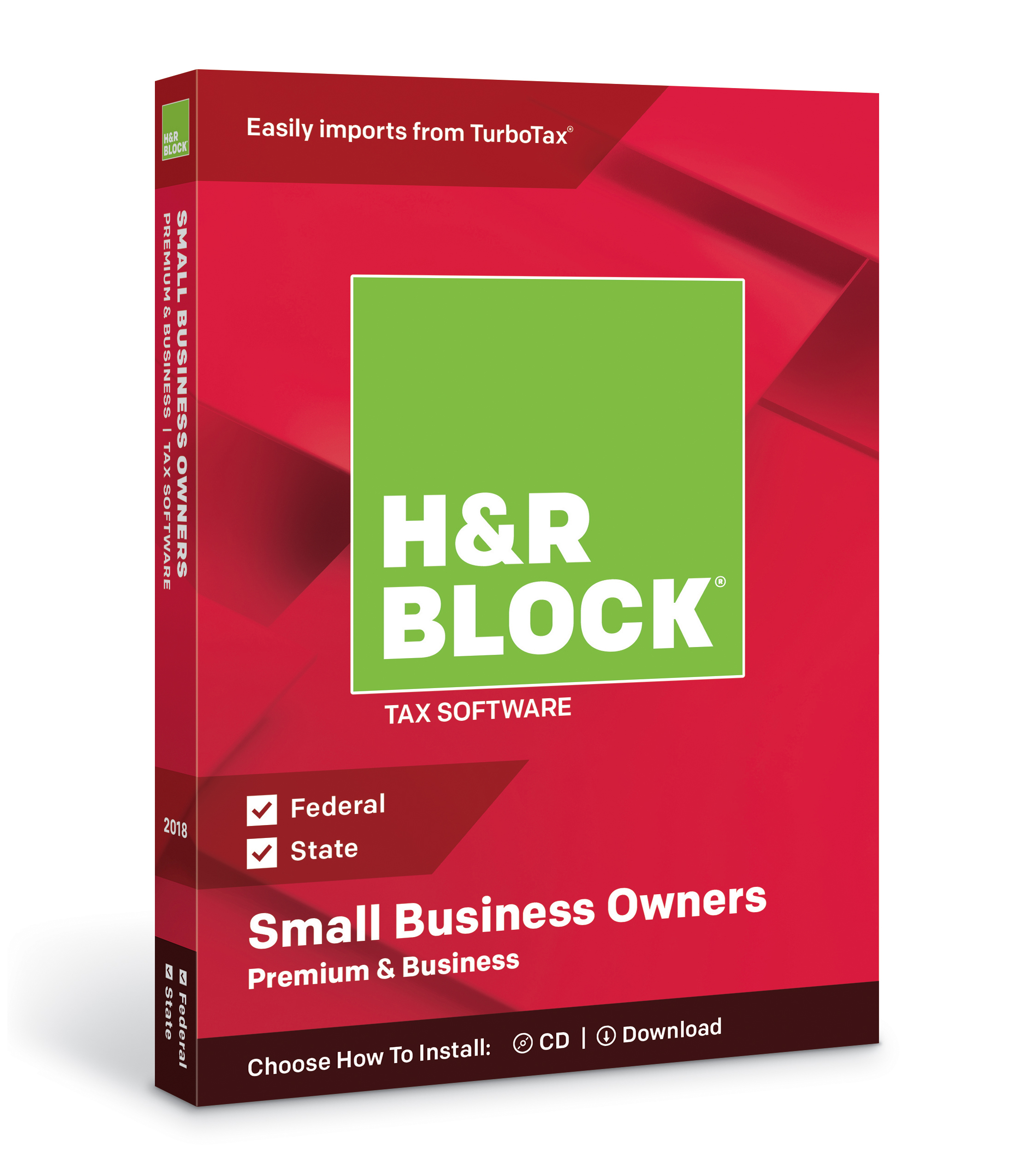 H&R Block Tax Software Premium & Business 2018