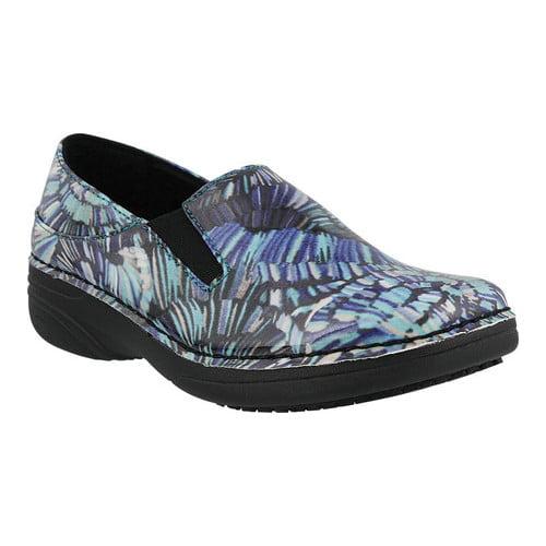 6.5 Medium US Spring Step Professional Womens WOOLIN-Light Uniform Dress Shoe Black Multi