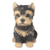 "Nature's Gallery ""Pet Pals"" Statue (Yorkshire Terrier Puppy), Life-like pet pal statue for indoor or outdoor use By Border Concepts"