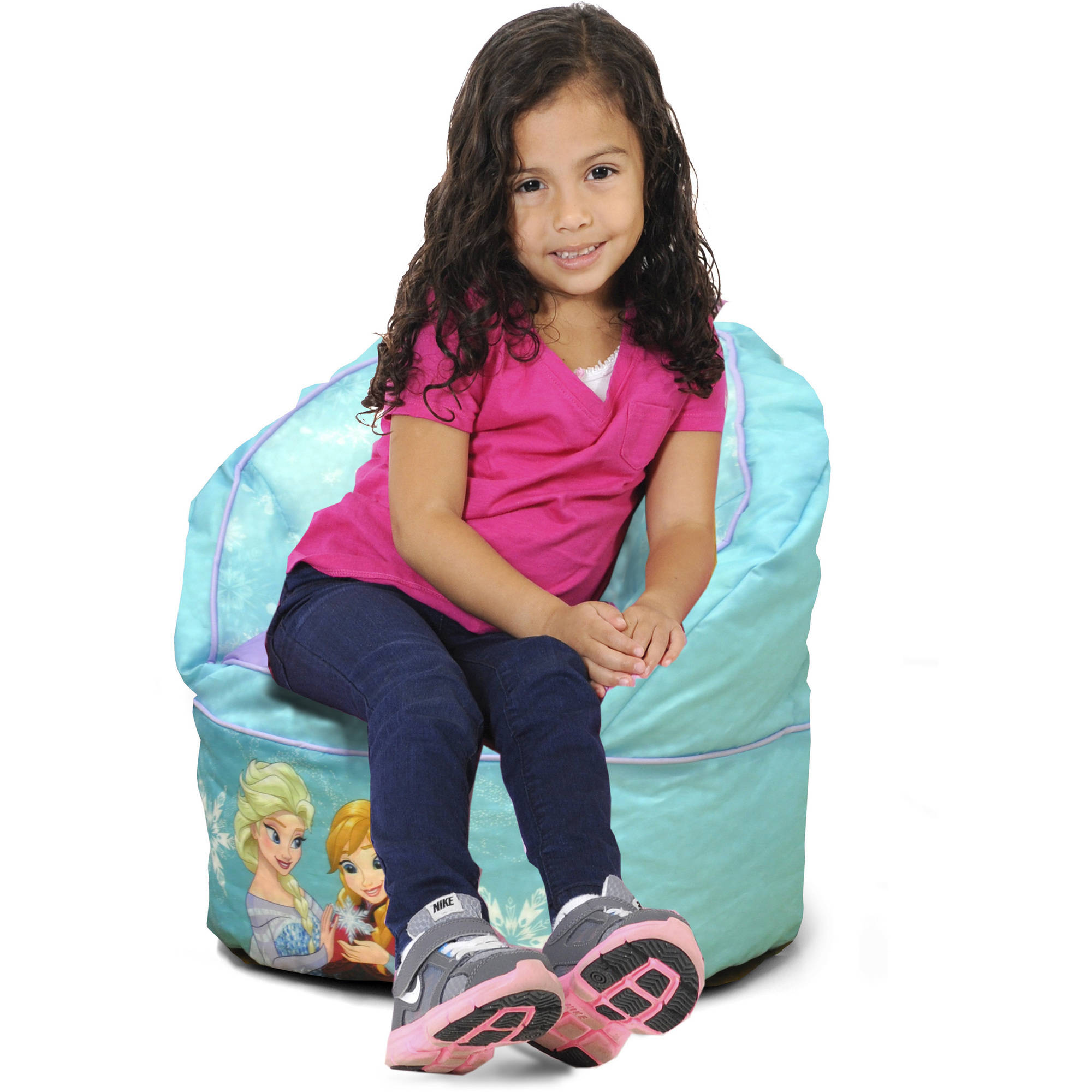 Disney Frozen Sofa Bean Bag Chair with Piping Walmart