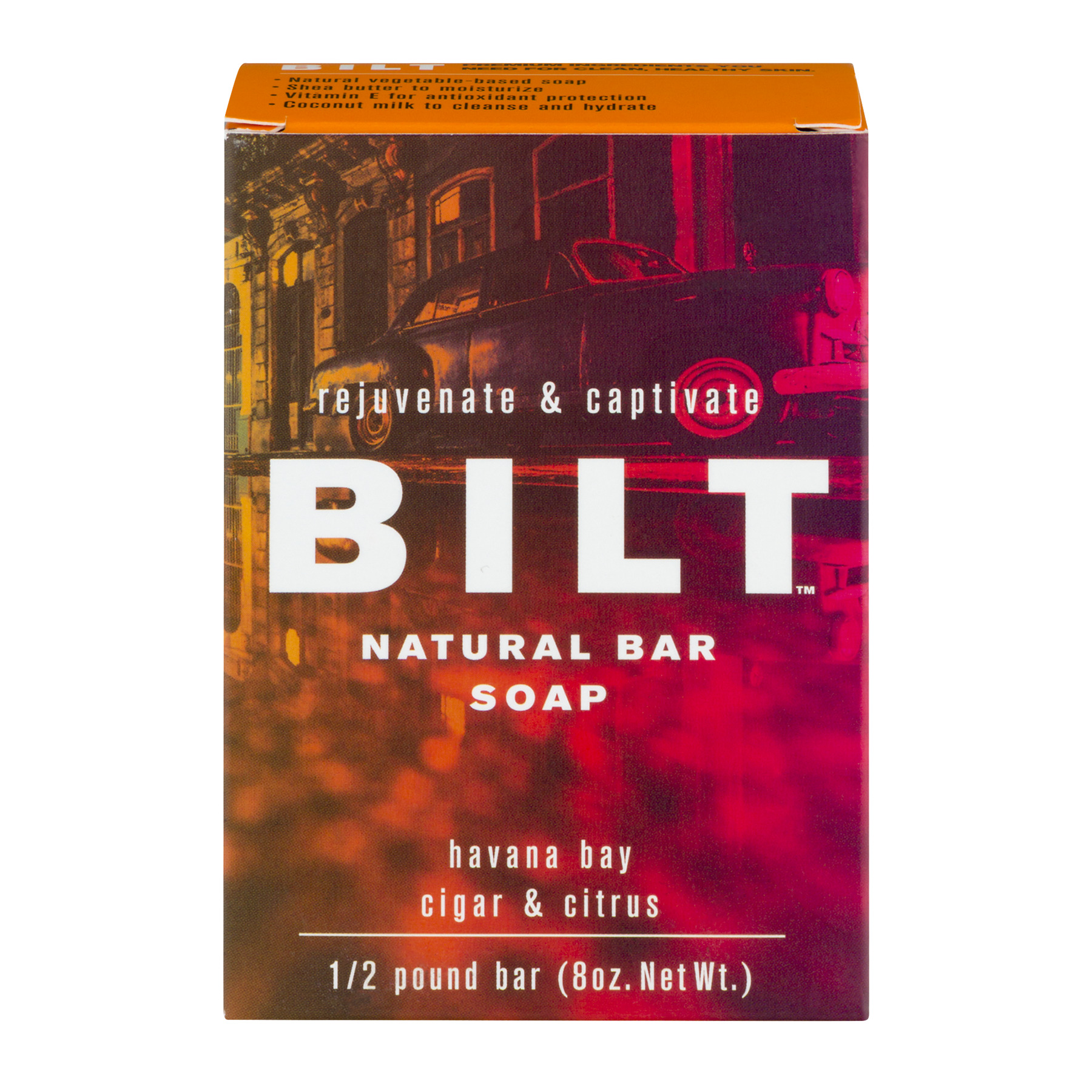 Bilt Natural Bar Soap Havana Bay Cigar & Citrus, 8.0 OZ