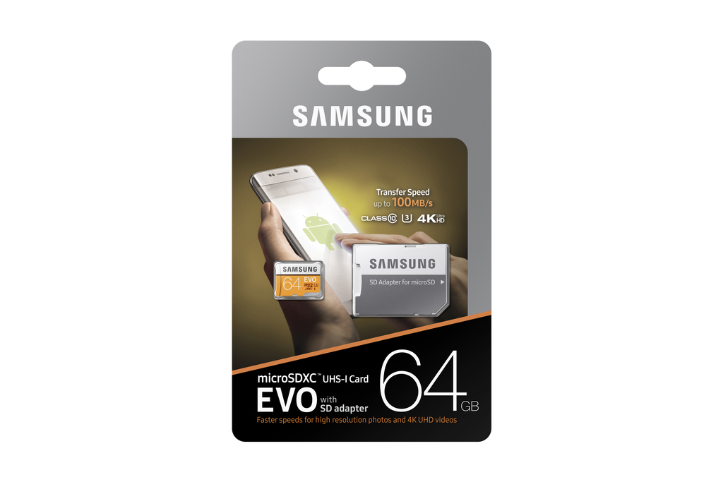 Samsung 64gb Evo Class 10 Micro Sdxc Card With Adapter Mb Mp64gaam