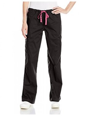 Med Couture Women's 'MC2' Layla Scrub Pant, Black, X-Small Petite