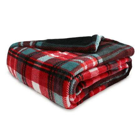 Better Homes & Gardens Oversize Reversible Velvet Plush Throw Blanket, 1 Each ()