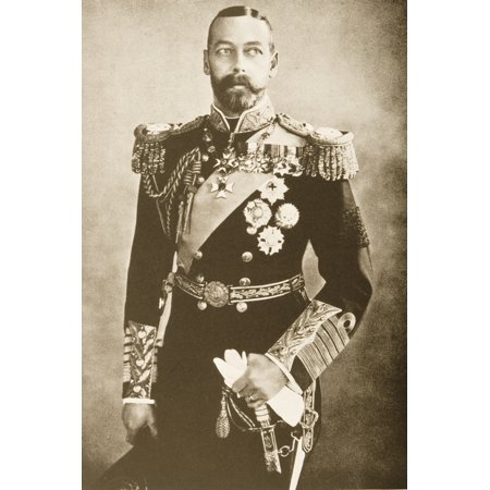 His Majesty King George V George Frederick Ernest Albert 1865 - 1936 From A Photograph By Bassano Canvas Art - Ken Welsh Design Pics (12 x 18)