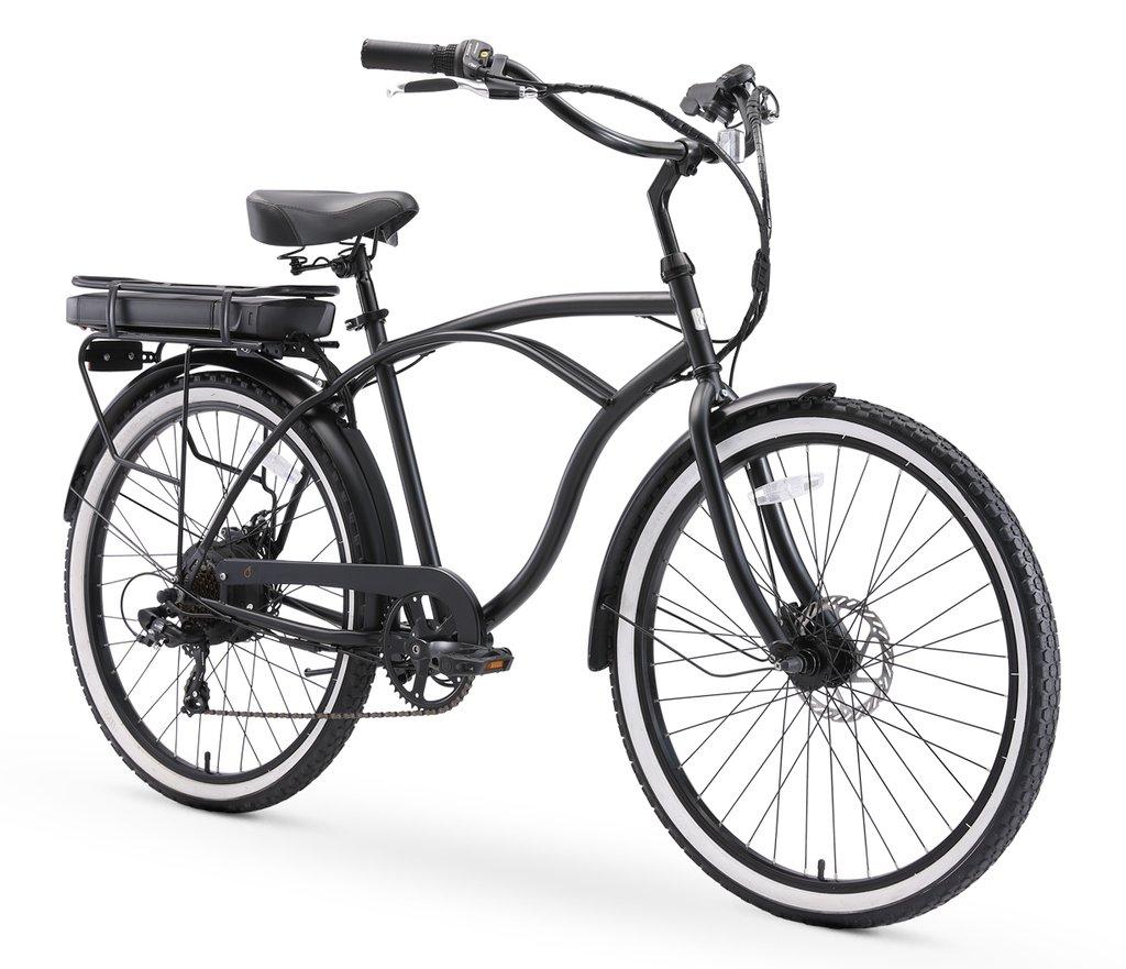 sixthreezero Go for a Jaunt Men's 250W Beach Cruiser Electric Bike