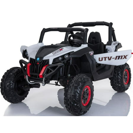 Mini Moto UTV 4x4 12v Kids Battery Powered Truck White (2.4ghz RC)