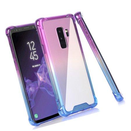 367e36d538 BAISRKE Galaxy S9 Plus Case, Blue Purple Gradient Shock Absorption Flexible  T... - Walmart.com
