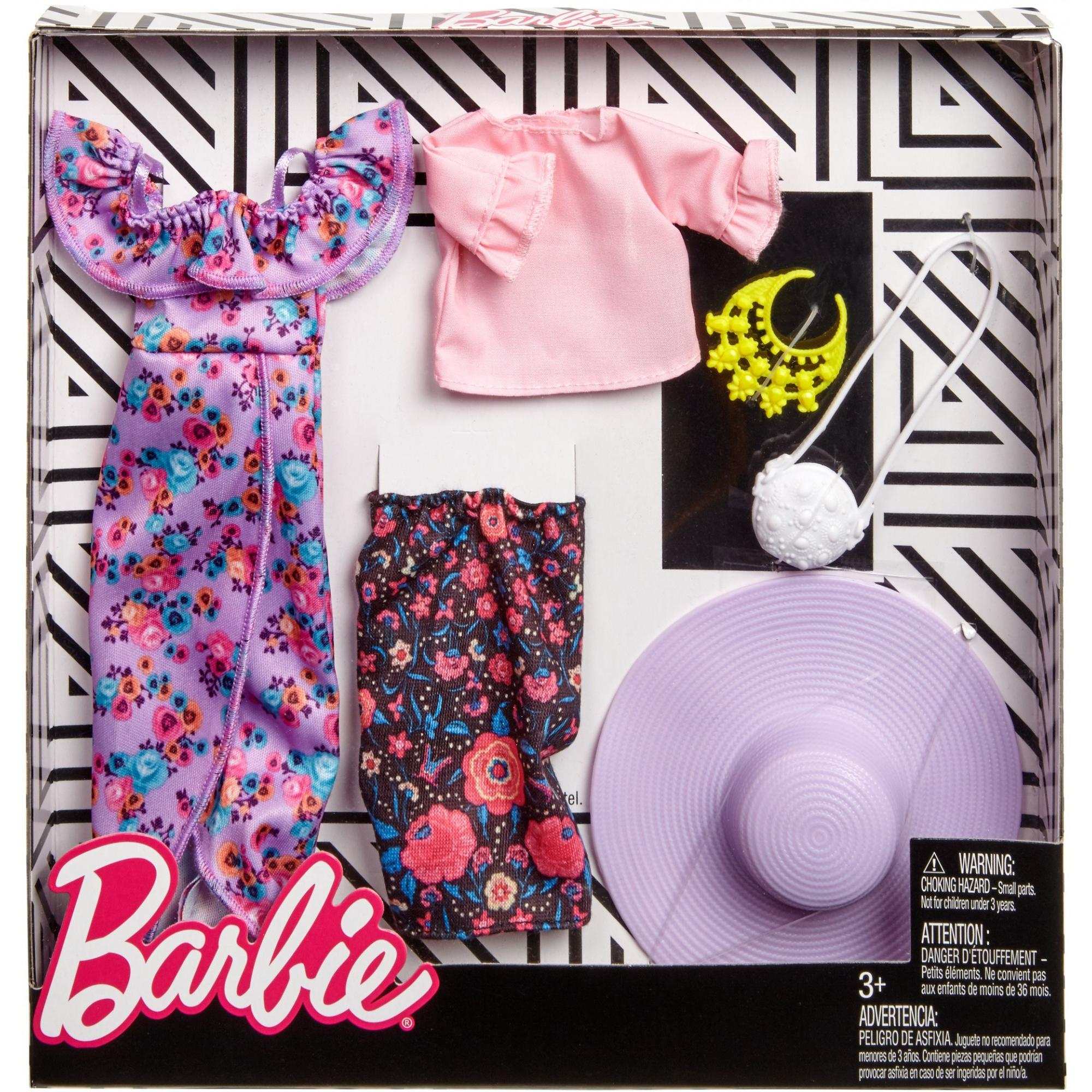 Barbie Ruffles And Floral Fashion 2 Pack