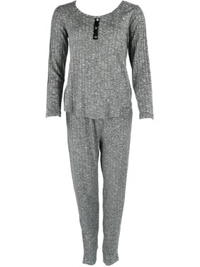 Product Image Women s Ribbed Henley Pajama Set c3d970dd5536