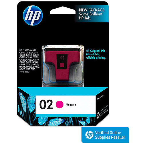 HP 02 Magenta Inkjet Cartridge (C8772WN)