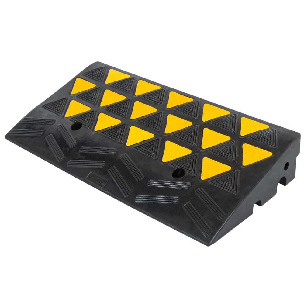 Heavy Duty Warehouse Industrial Rubber Reflective Curb Ramp