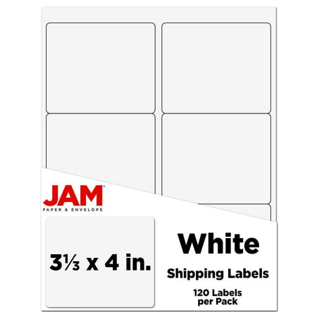 JAM PAPER Shipping Address Labels - Large - 3 1/3 x 4 - White - 120/Pack Large Return Address Labels