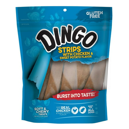 Dingo Strips With Chicken And Sweet Potato Flavor 12.5 Ounces, Gluten Free, Chewy Treat For All Dogs Flavored Chewy Dog Treats