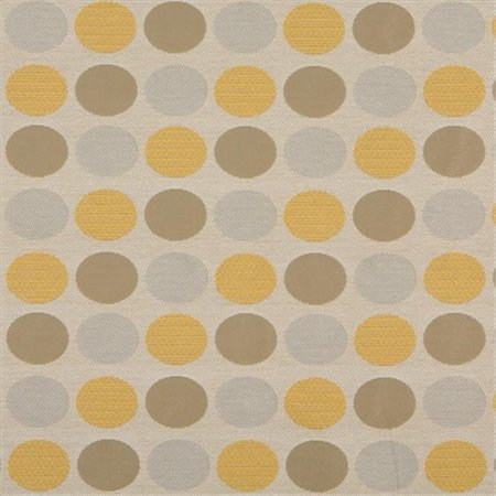 Designer Fabrics K0136A 54 inch Wide Beige, Gold And Gray Polka Dots Woven Solution Dyed Indoor & Outdoor