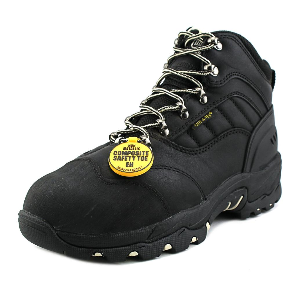 "Chippewa 6"" Waterproof Comp Toe Men  Composite Toe Leather Black Work Boot"
