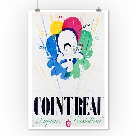 Cointreau - Liqueur Cristalline Vintage Poster (artist: Mercier) France c. 1940 (9x12 Art Print, Wall Decor Travel Poster)