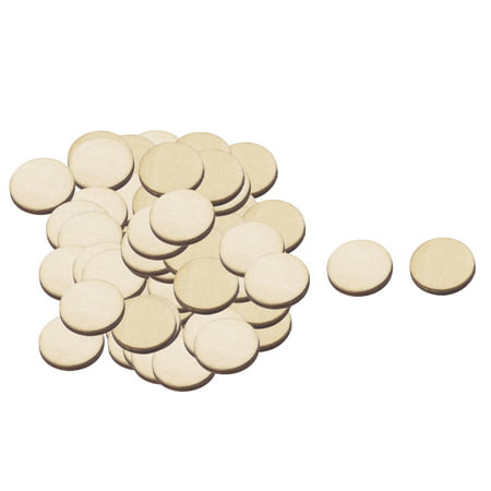 Wooden Slices Round Shape DIY Gift Craft Decor Accessories Beige 20mm Dia 100pcs](Wood Tree Slices)
