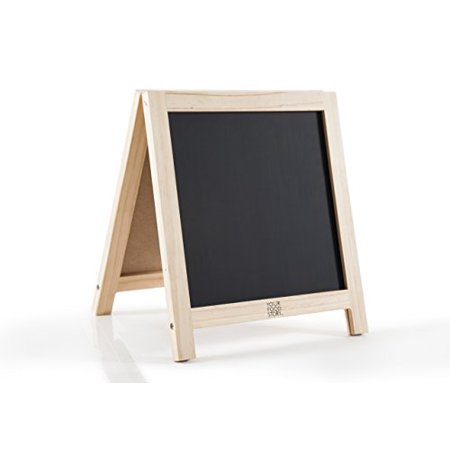 Your Food Story Magnetic Double Sided Chalkboard Easel Double Chalkboard Easel