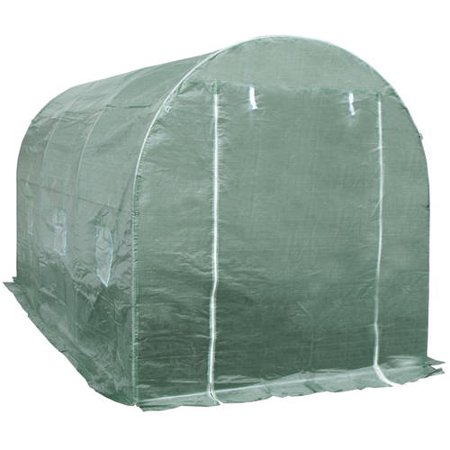 ALEKO Large Poly-Tunnel Walk-In Waterproof Plant Garden Outdoor Greenhouse Shed