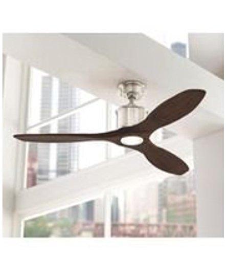 brushed nickel led ceiling fan