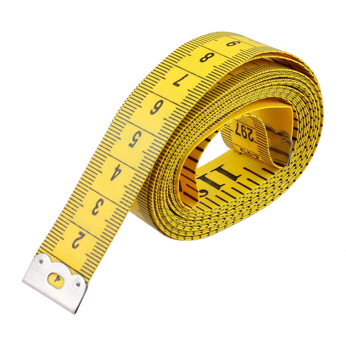 Soft Ruler Tape Measure 300cm//120 Inch Double-Scale Soft Tape Measuring Body Weight Loss Medical Body Measurement Sewing Tailor Cloth Ruler Dressmaker Flexible Ruler Tape Measure 1 Pack by White