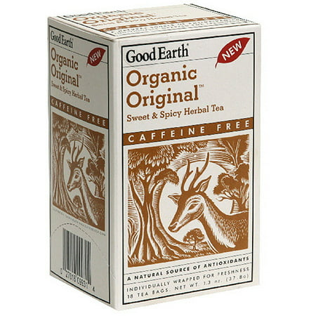 Good Earth Organic Original Sweet & Spicy thé à base de plantes, 18ct (Pack de 6)