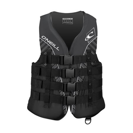 Uscg Life Jackets - O'NEILL MEN'S SUPERLITE USCG LIFE VEST, Black/Black/Smoke:White, Size Large