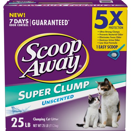Scoop Away Super Clump Clumping Cat Litter, Unscented, 25 (Best Litter Scoop Ever)