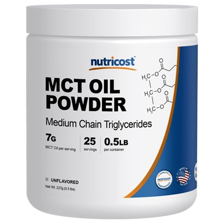 Nutricost Premium MCT Oil Powder .5LB - Best For Keto, Ketosis, and Ketogenic Diets - Zero Net Carbs - Made In The USA, Non-GMO and Gluten (Best Oil Blotting Powder)