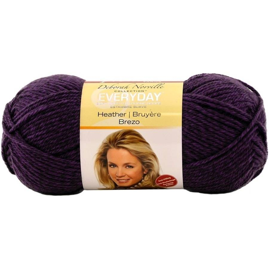 Deborah Norville Everyday Soft Worsted Heather Yarn, Violet