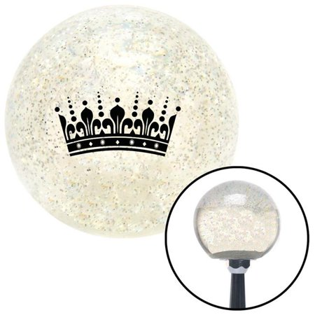 Black Queens Crown Clear Metal Flake Shift Knob with M16 x 1.5 Insert Shifter Auto Brody - image 1 de 1