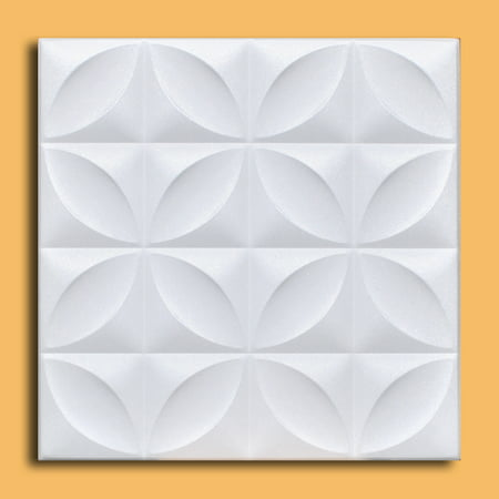 White Styrofoam Ceiling Tile Closter (Package of 8 Tiles) - same as Perceptions and R103 (Pvc Ceiling Tiles)