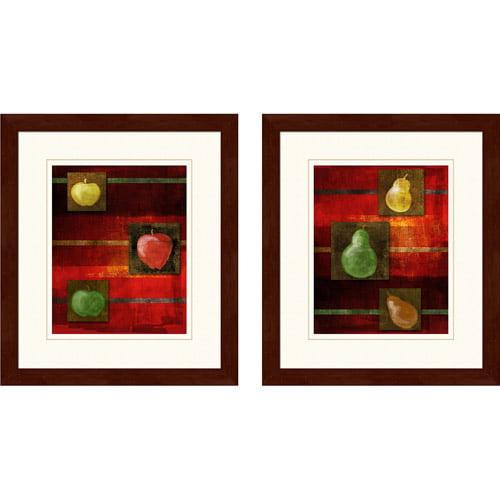 """""""Fall Pears"""" Framed Art, Set of 2"""