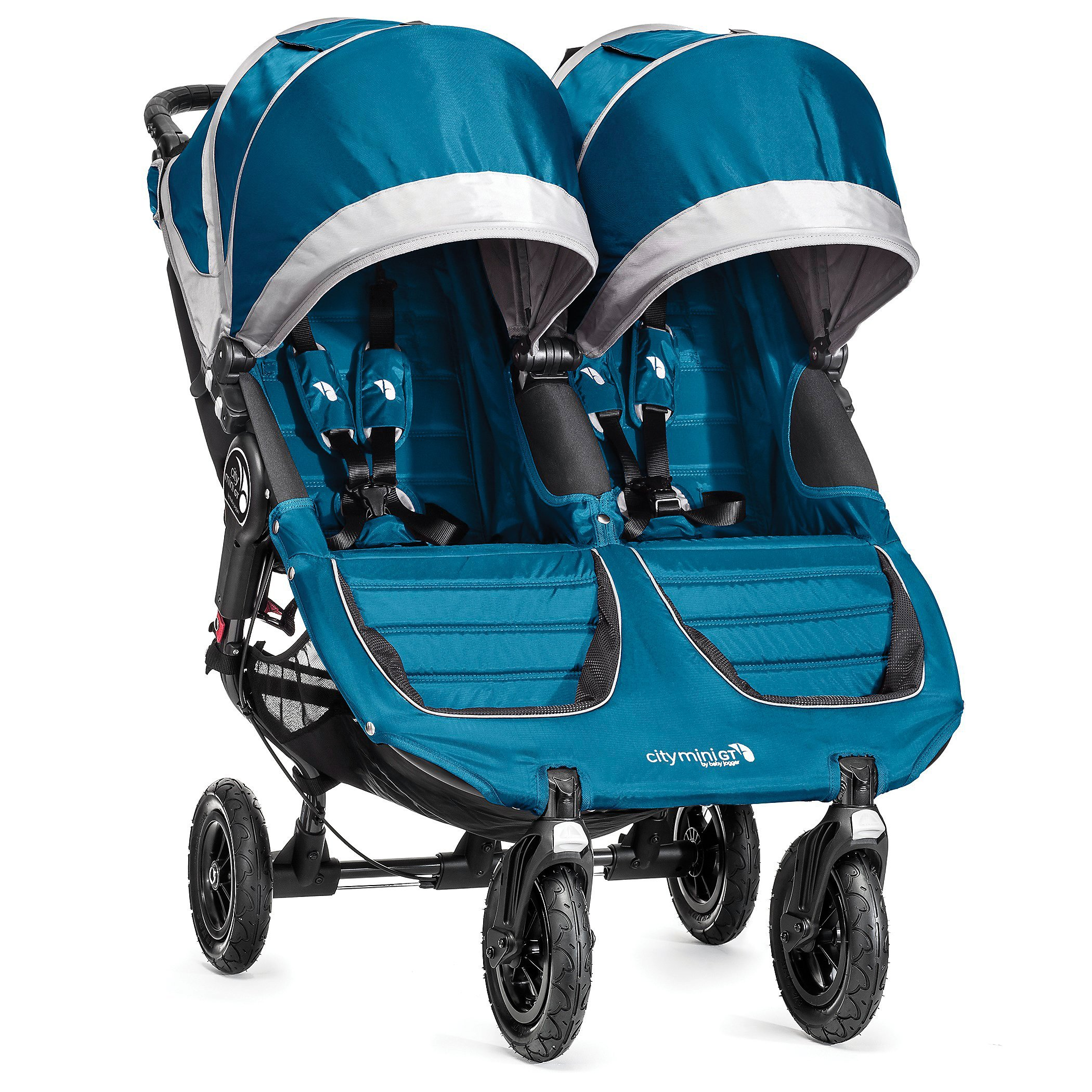 Baby Jogger 2016 City Mini GT Double Stroller Teal Gray by Baby Jogger