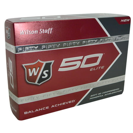 Wilson Staff 50 Elite Golf Balls, 12 Pack](Light Golf Balls)